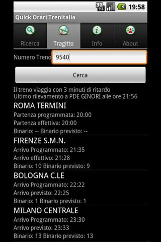 Quick Orari Trenitalia - screenshot