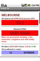 Screenshot of OzSun UV