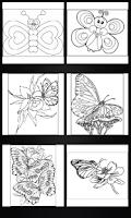 Screenshot of Butterflies coloring book