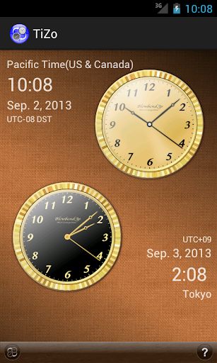TiZo world time clock
