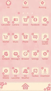 FlowerLove - GO Launcher Theme - screenshot thumbnail