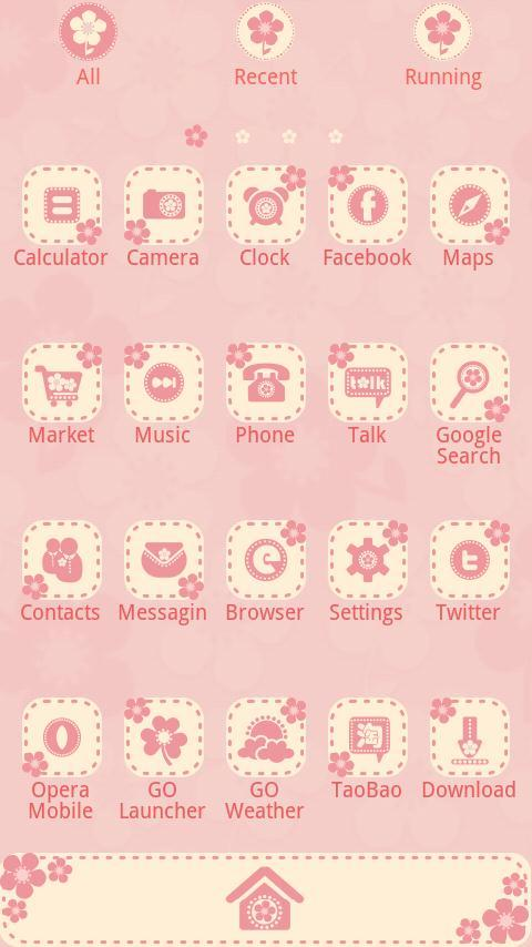 FlowerLove - GO Launcher Theme - screenshot