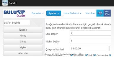 Screenshot of Bulutt Ölçüm