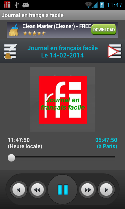 Journal en français facile - screenshot