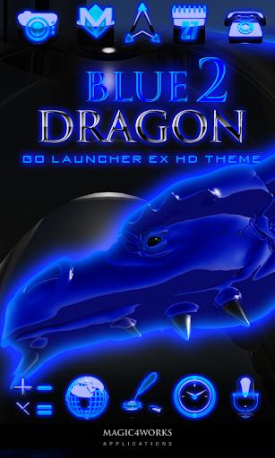 GO Launcher Theme Blue Dragon