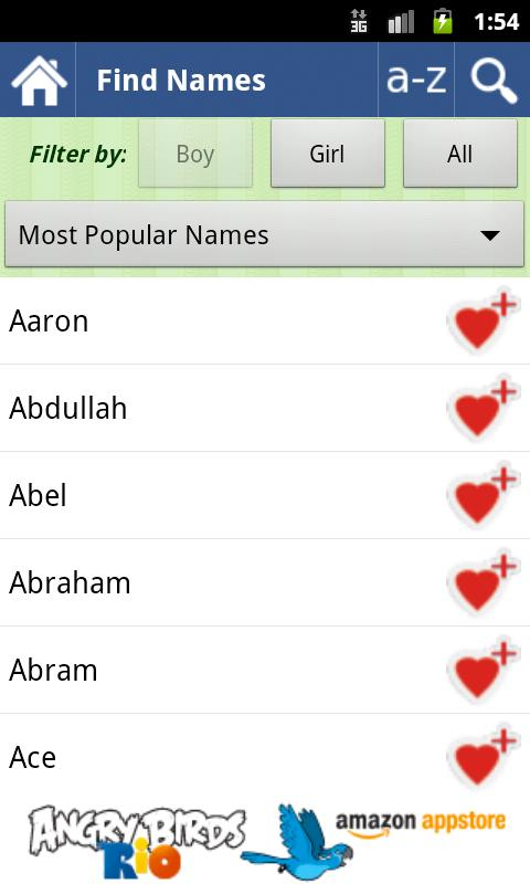 50000 Baby Names FREE! - screenshot