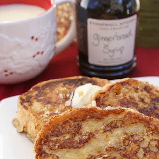 Eggnog French Toast with Gingerbread Syrup Recipe