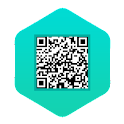 QR Scanner + Contact QR Share icon