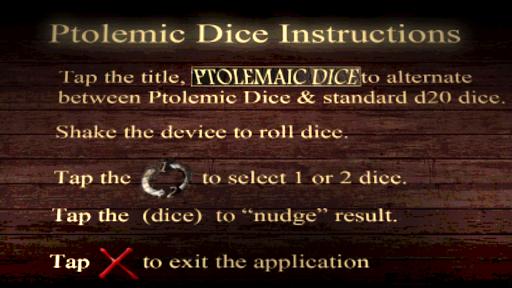 Ptolemaic Dice