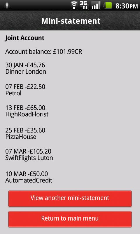 HSBC Fast Balance- screenshot
