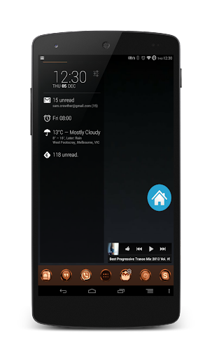 24Cr Copper Launcher Theme