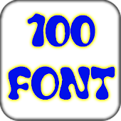 100 font pack for Galaxy