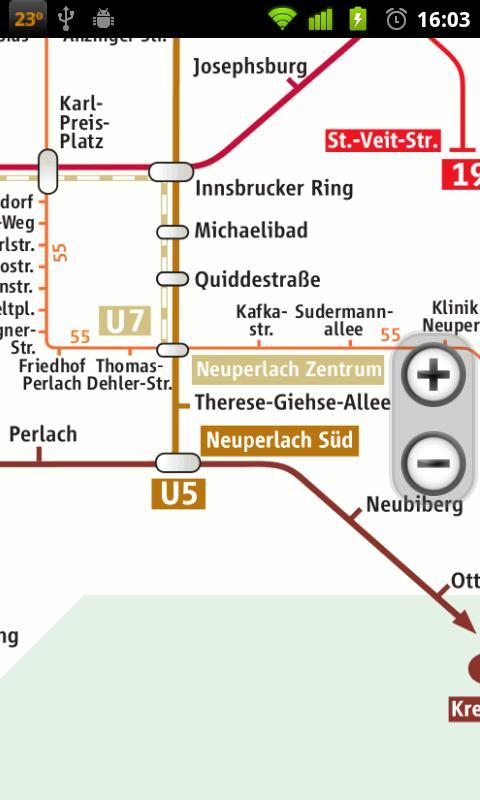 Оффлайн карта метро Мюнхена.