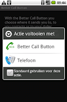 Screenshot of Better Call Button