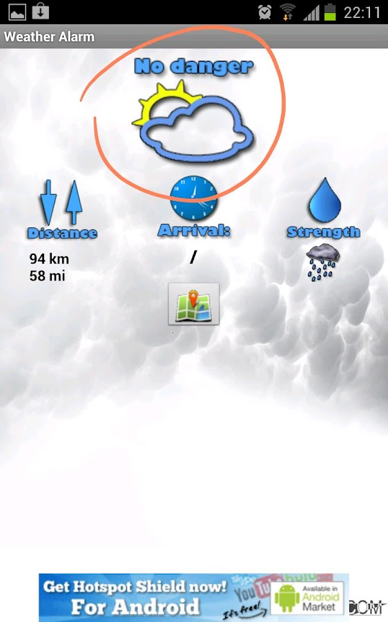 Weather Alarm - screenshot