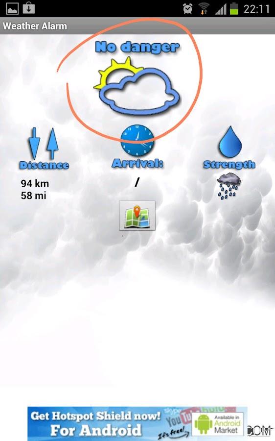Weather Alarm- screenshot