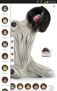 TSF Shell theme CyborggirlR HD - screenshot thumbnail