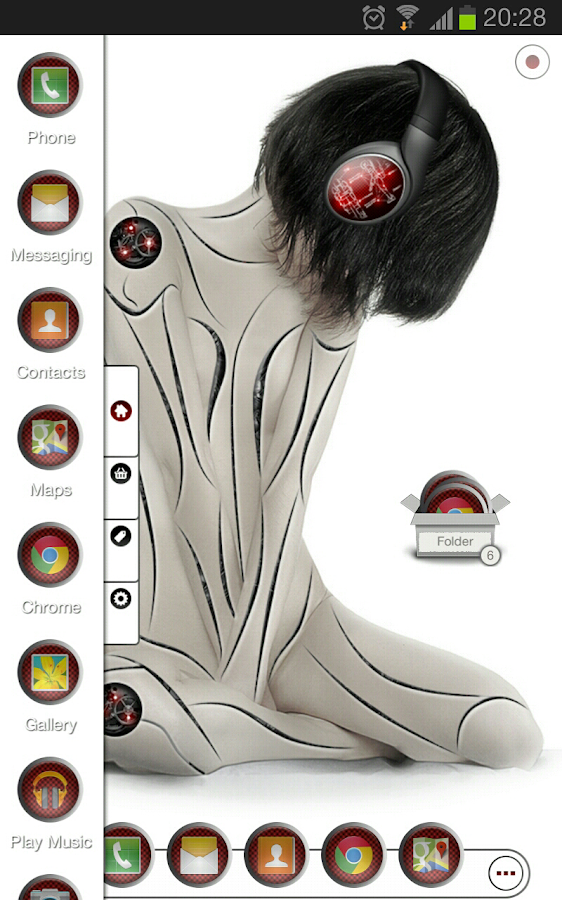 TSF Shell theme CyborggirlR HD - screenshot
