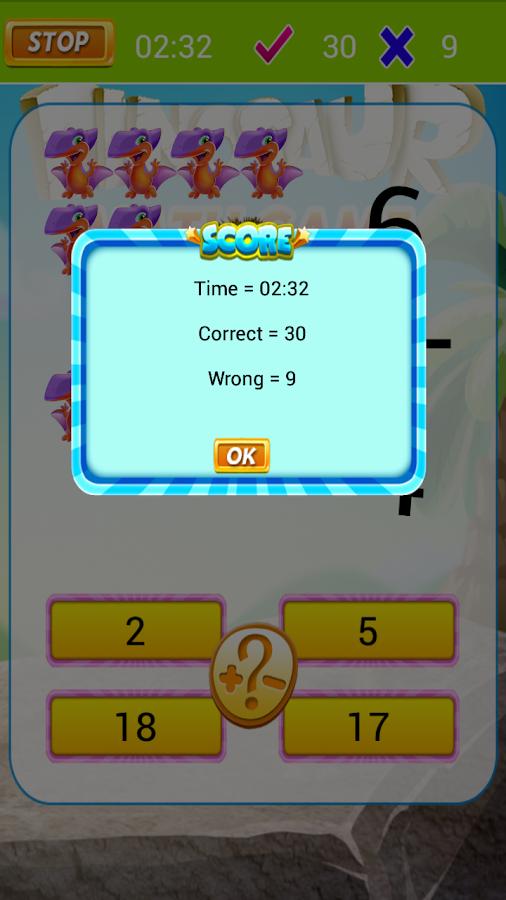 Dinosaur Math Kids - screenshot