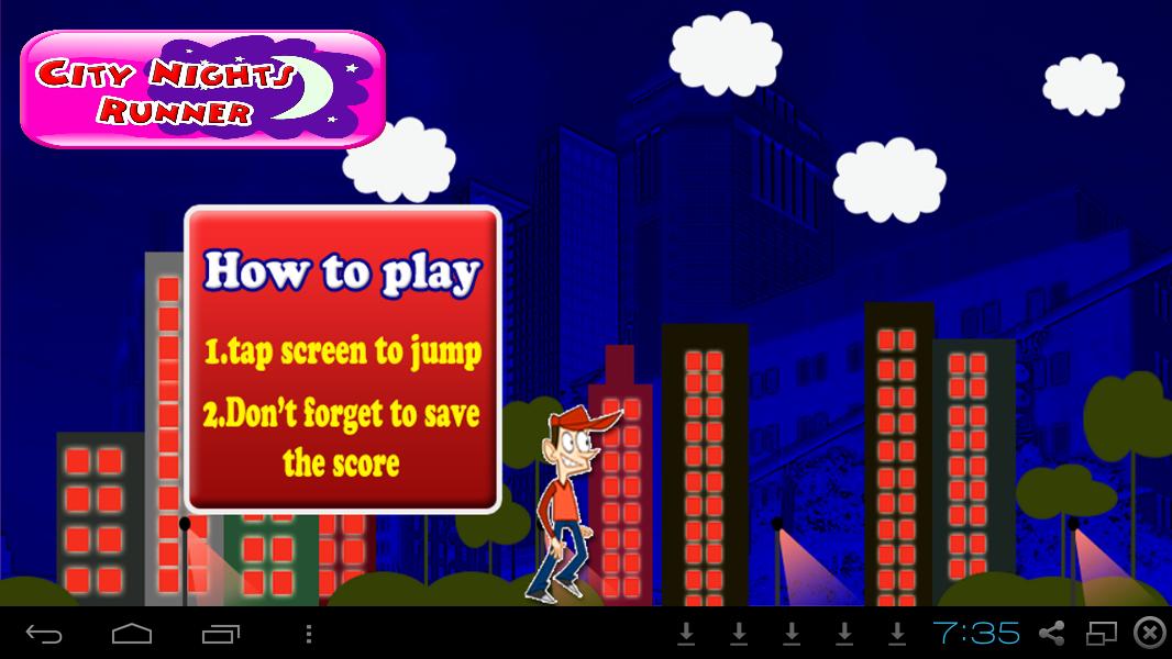 Survival Run Game- City Nights- screenshot