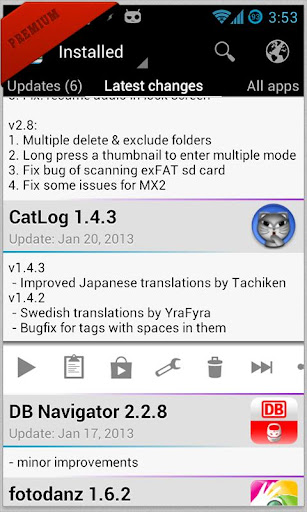 Changelog Droid Premium v3.5.6 APK