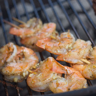 Grilled Garlic Shrimp.