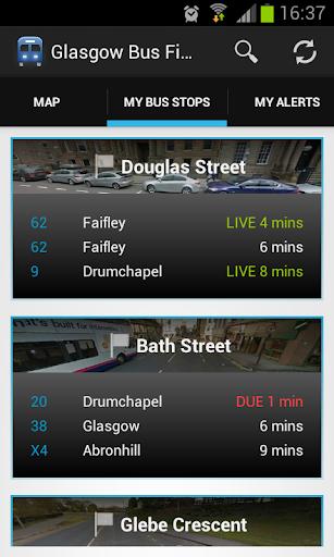 Glasgow Bus Finder