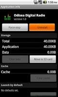 Screenshot of Odisea Digital Radio Demo