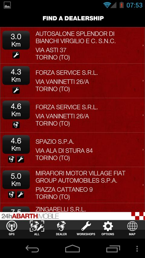 Abarth24h Mobile – Screenshot
