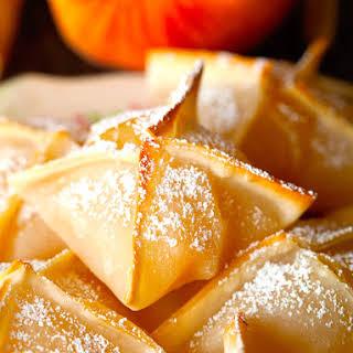 Baked Peach Wontons.