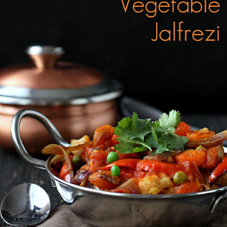 Vegetable Jalfrezi - Smoky Tangy Veggie Stir fry. Vegan Glutenfree.