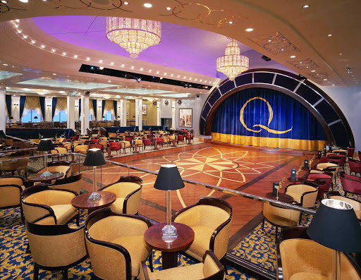 Dance the night away with your sweetie on the ballroom floor to live orchestra music aboard Queen Mary 2.