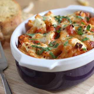 Cheesy Roasted Red Pepper Pasta.