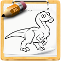 How to draw Dinosaur icon