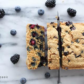 Berry Cornbread Loaf. Vegan. Gluten Free.