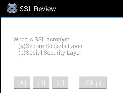 Network Quiz: SSL