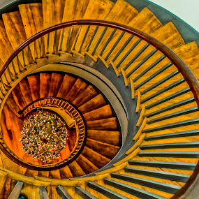 Shaker  Village Staircase by Stephanie Turner - Buildings & Architecture Architectural Detail ( wooden, stairway, staircase, artistic, christmas tree, architectural detail, architecture,  )