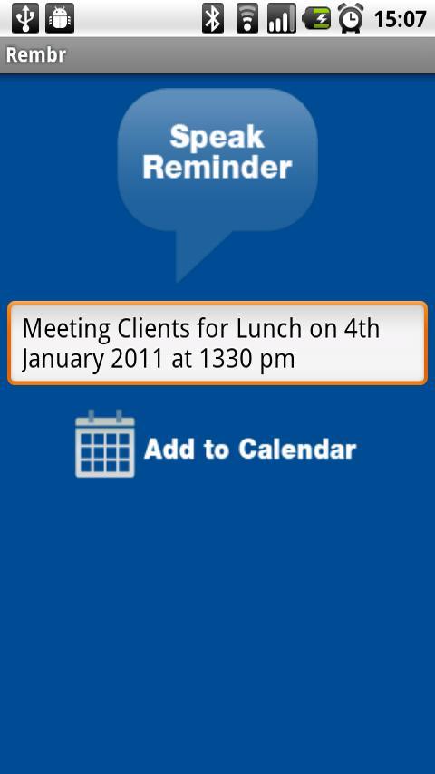 Rembr - Voice to Calendar - screenshot