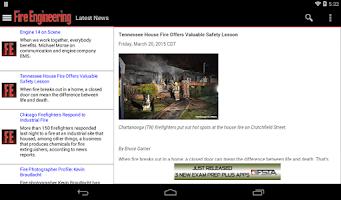 Screenshot of Fire Engineering