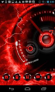 Next Launcher Theme Red-Drift v1.0.2