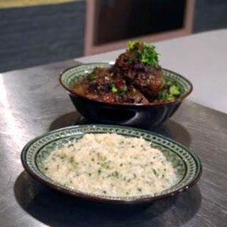 Braised Oxtail With Grapes And White Onion Risotto