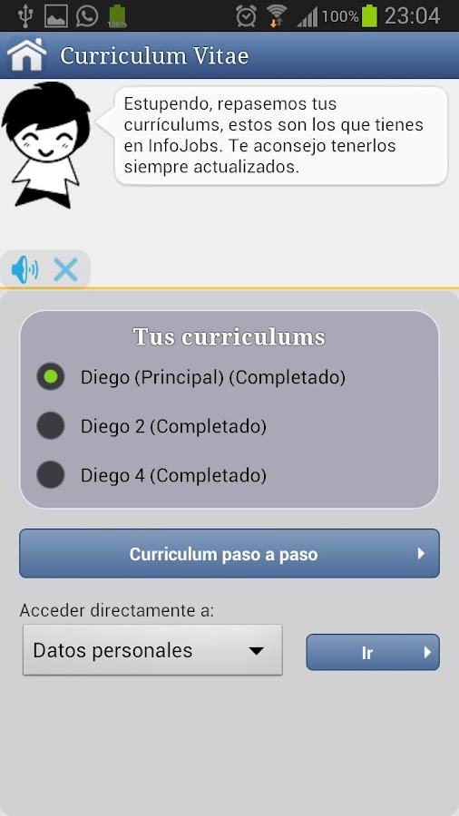 Asistente Empleo- screenshot
