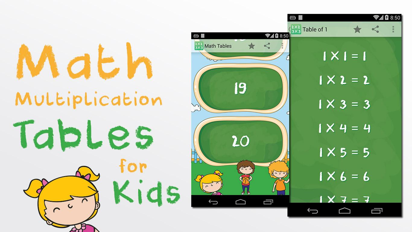 Math multiplication tables android apps on google play math multiplication tables screenshot gamestrikefo Image collections