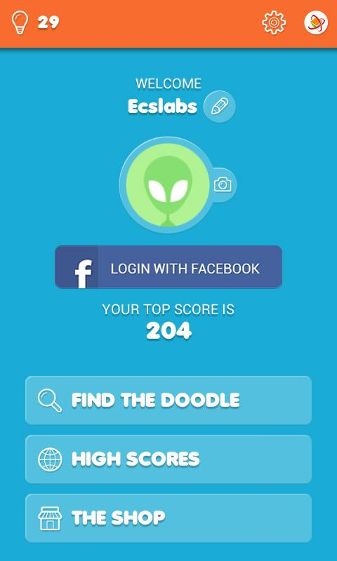Find The Doodle Game - Free- screenshot