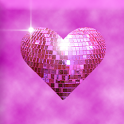 Pink Sparkle Hearts Live icon