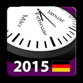 2015 Deutsch Feiertagskalender