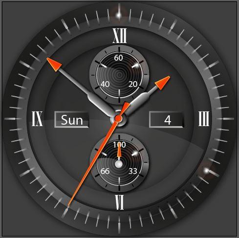 Cera Black Watch Face for Wear