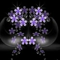 3D beautiful  lilacs logo