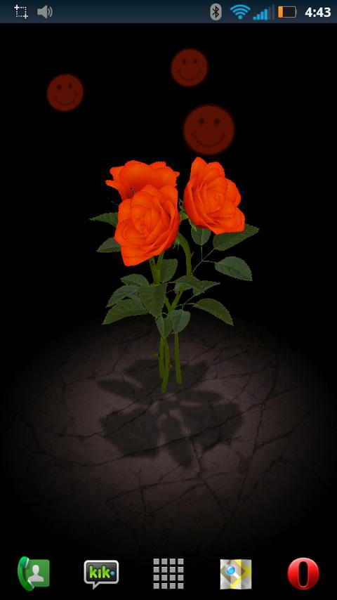 3D Rose Bouquet LWP Free- screenshot