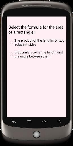 Formula area of a rectangle